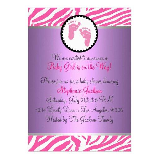 Hot Pink Baby Shower Invite