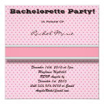 Hot Pink Bachelorette Party Invitation