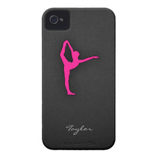 Hot Pink Ballet Dancer iPhone 4 Cases