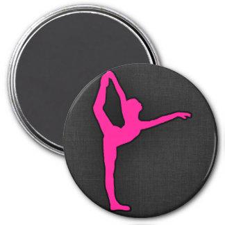 Hot Pink Ballet Dancer Fridge Magnet