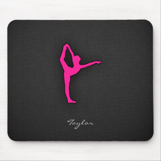 Hot Pink Ballet Dancer Mousepad