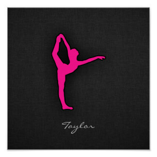 Hot Pink Ballet Dancer Poster