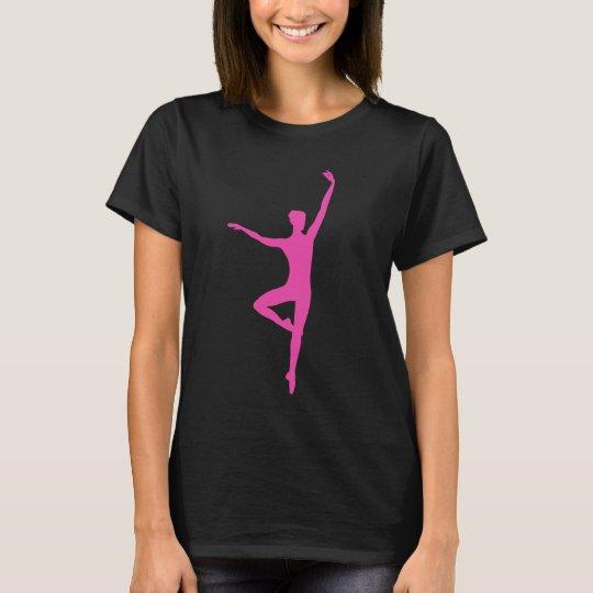Hot Pink Ballet Dancer Shirt