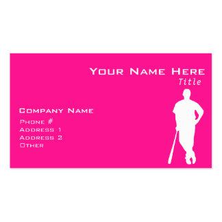 Hot Pink Baseball softball Business Card Template