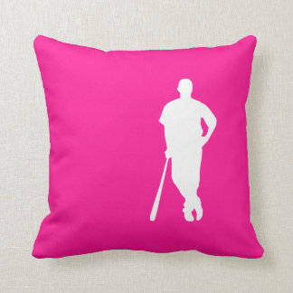 Hot Pink Baseball; softball Cushion