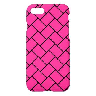 Hot Pink Basket Weave 2 iPhone 7 Case