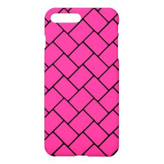 Hot Pink Basket Weave 2 iPhone 7 Plus Case