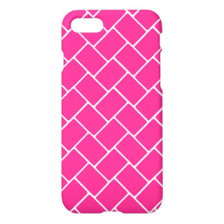 Hot Pink Basket Weave iPhone 7 Case
