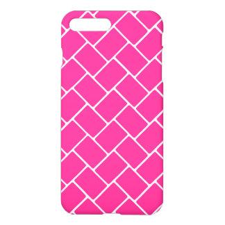 Hot Pink Basket Weave iPhone 7 Plus Case