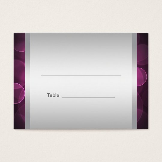 Hot Pink Bat Mitzvah Reception Table Cards