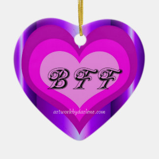 hot pink BFF Christmas Ornament