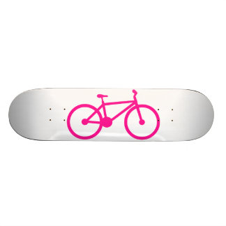 Hot Pink Bicycle; bike 19.7 Cm Skateboard Deck