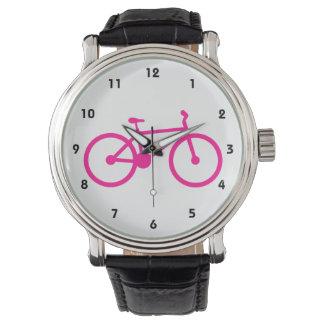 Hot Pink Bicycle; bike Wristwatch