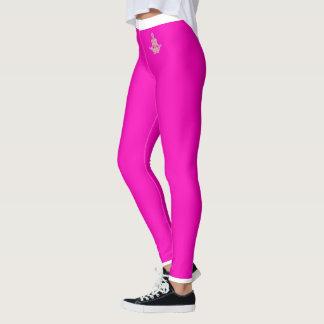 Hot Pink, Black and White Leggings