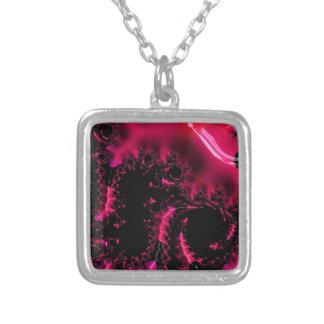 Hot Pink Black Fractal Art Jewelry
