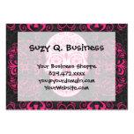 Hot Pink Black Sugar Skull Roses Gothic Grunge Business Cards