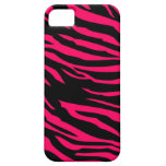 Hot Pink Black Zebra Mate ID™ iPhone 5 Case