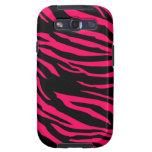 Hot Pink Black Zebra Print Samsung Galaxy Case