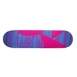 Hot Pink Blob Teal Fuchsia Abstract Art Skate Board