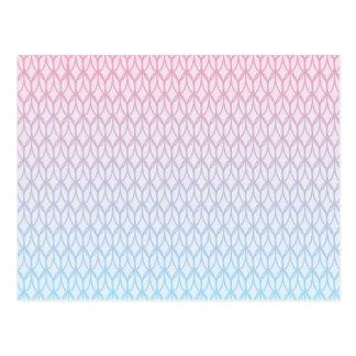 Hot Pink Blue Gradient Oval Pattern Postcard