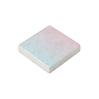 Hot Pink Blue Gradient Oval Pattern Stone Magnet