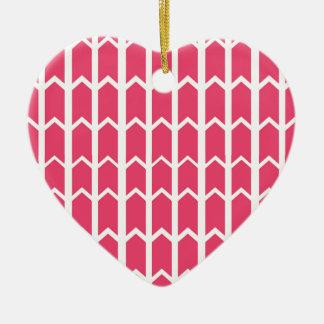 Hot Pink Bordered Fence Panel Ceramic Heart Decoration