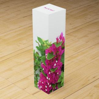 Hot Pink Bougainvillea Wine Box