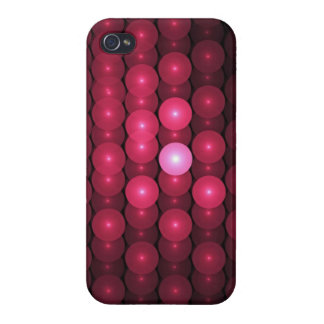 Hot Pink Bubbles, abstract Case For iPhone 4