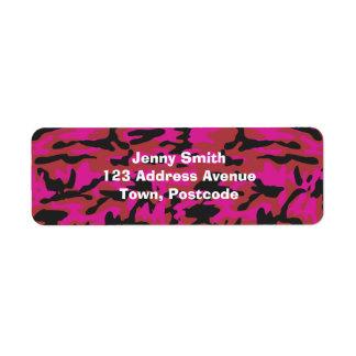 Hot pink camo pattern
