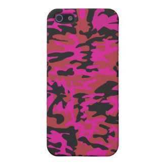 Hot pink camo pattern iPhone 5/5S cover
