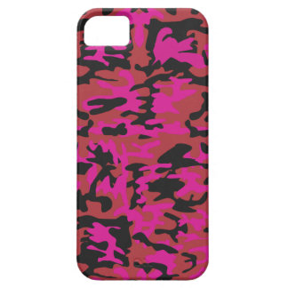 Hot pink camo pattern iPhone 5 covers