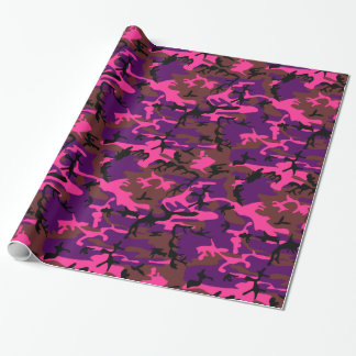 Hot Pink Camo Wrapping Paper