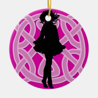 Hot Pink Celtic Dancer Ornament
