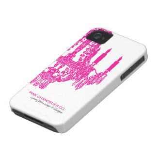 """Hot Pink Chandelier Pattern"" iPhone 4 Case-Mate Cases"