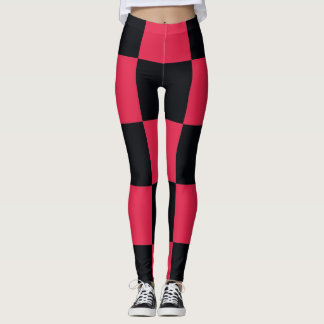 Hot Pink Checkerboard Leggings