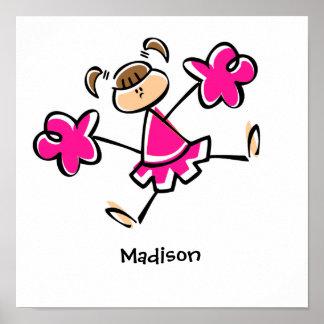 Hot Pink Cheerleader Poster
