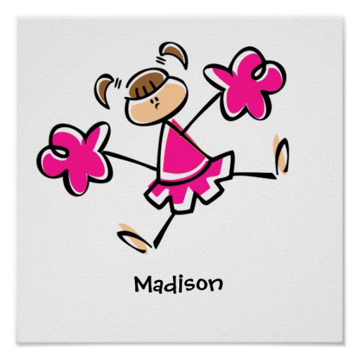 Hot Pink Cheerleader Posters