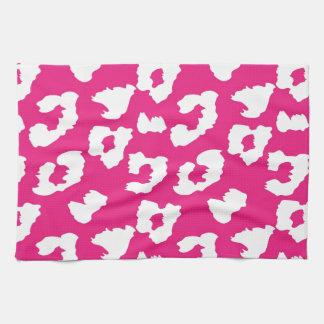 Hot Pink Cheetah Leopard Print Tea Towel