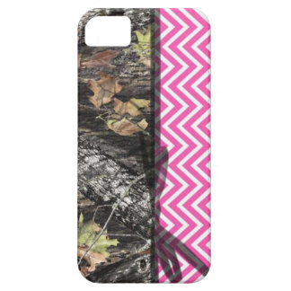 Hot Pink Chevron and Camo iPhone 5/5S Case