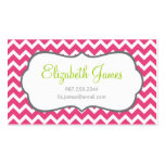 Hot Pink Chevron Business Card Template
