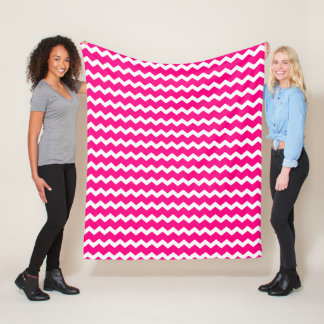 Hot Pink Chevron Fleece Blanket
