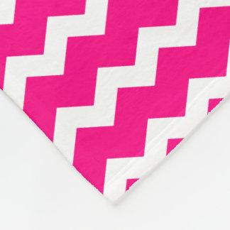 Hot Pink Chevron Fleece Blanket