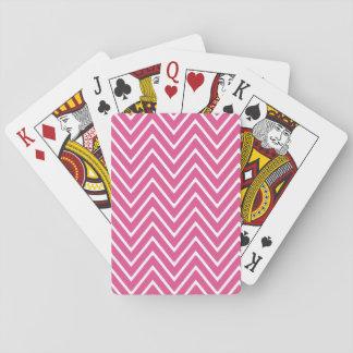 Hot Pink Chevron Pattern 2 Playing Cards