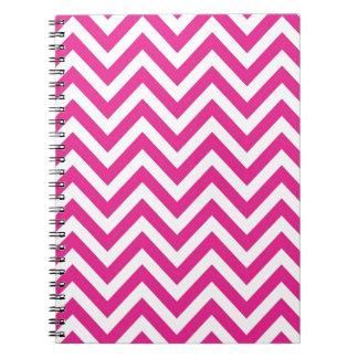 Hot Pink Chevron zigzag Pattern Notebook