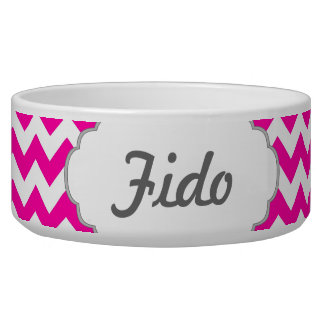 Hot Pink Chevrons - Add Your Own Text