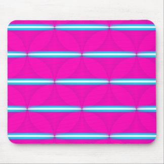 Hot Pink Circle Polka Dots Diamond Teal Stripes Mouse Pad
