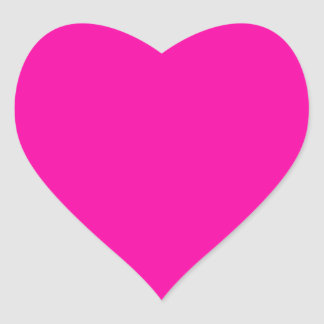 Hot Pink Colour Only Custom Design Heart Sticker