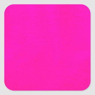 Hot Pink Colour Only - The World Without Design Square Sticker