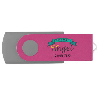 Hot Pink Company Logo Branded USB Drive