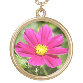 Hot Pink Cosmos Flower Necklace